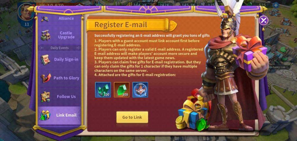 Infinity Kingdom Register Game Account Link