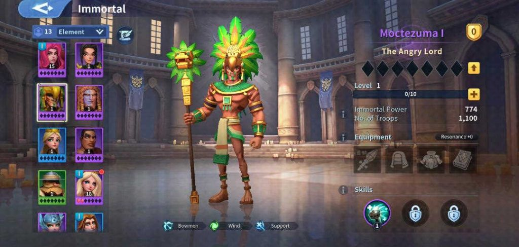 Moctezuma I Wind Immortal