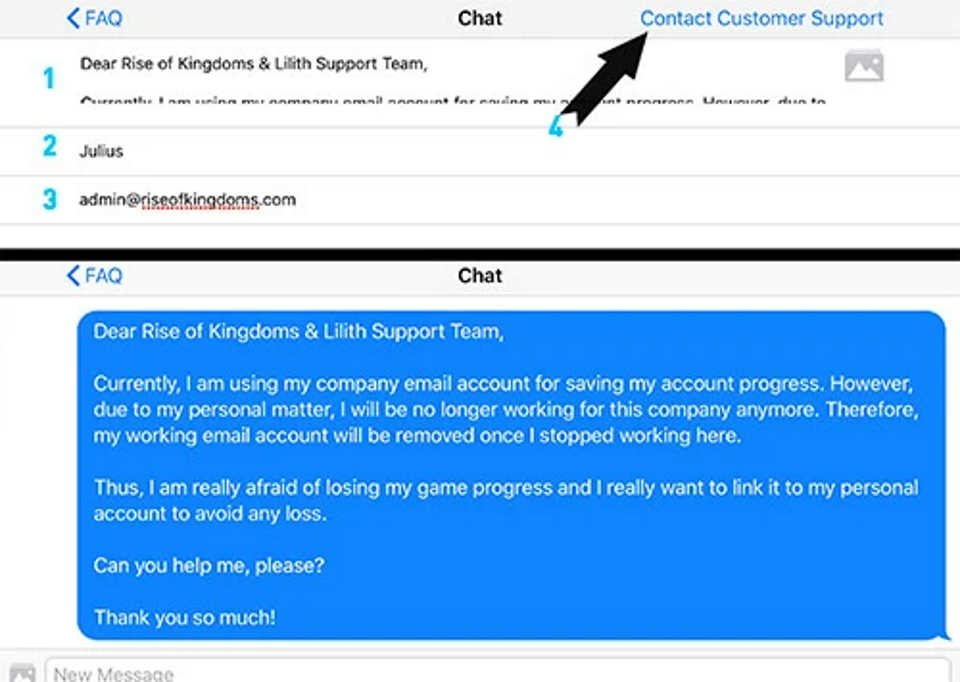 Rise of Kingdoms Customer Support
