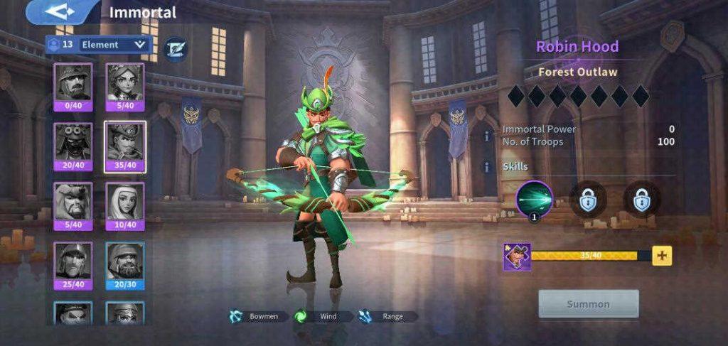 Robin Hood Wind Immortal