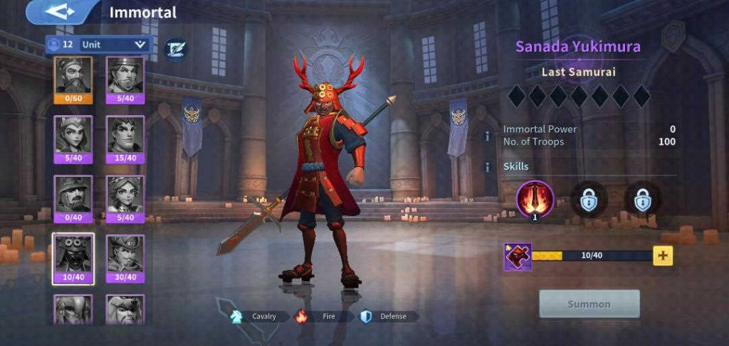 Sanada Yukimura Fire Immortal Infinity Kingdom