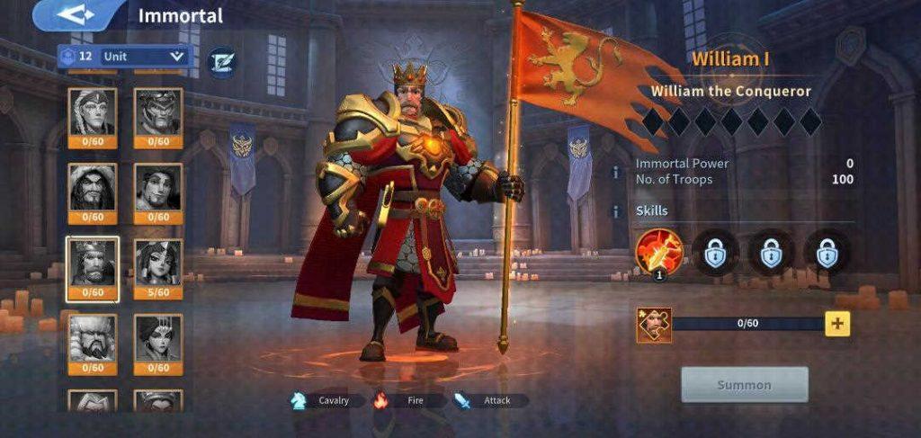 William I Fire Immortal Infinity Kingdom