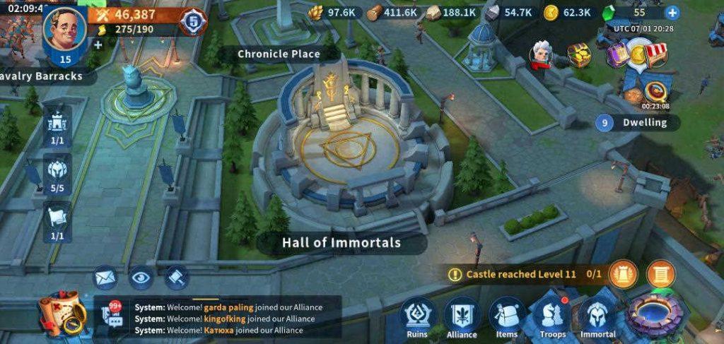 Hall of Immortals Infinity Kingdom