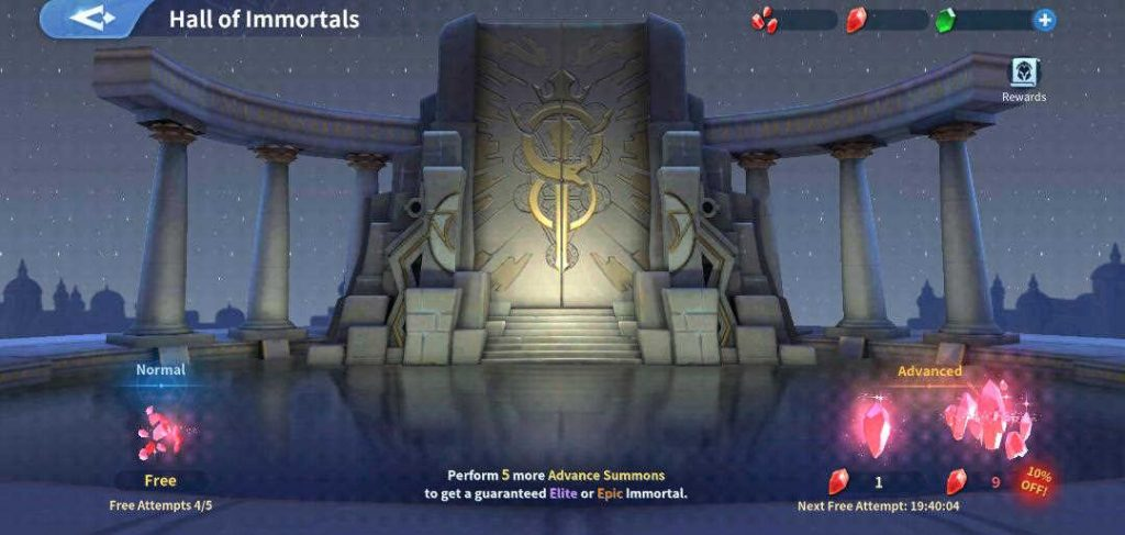 How to use Hall of Immortals Infinity Kingdom