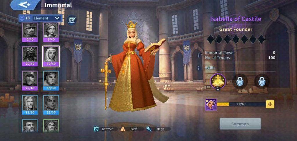 Isabella of Castile Earth Immortal Infinity Kingdom