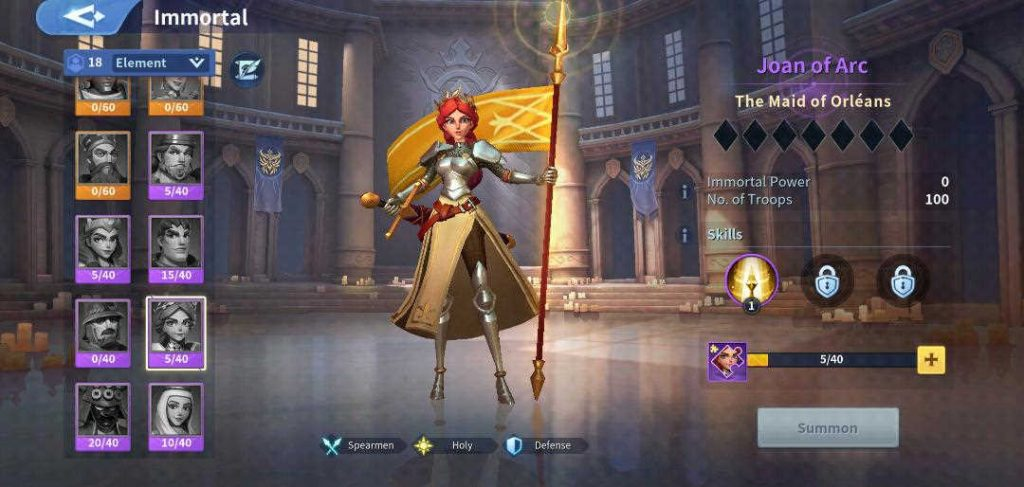 Joan of Arc Holy Immortal Infinity Kingdom